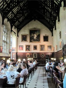 Breakfast in Exeter College Dining Hall, Oxford
