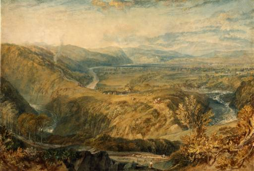 Crook of Lune, Looking towards Hornby Castle circa 1816-18 by Joseph Mallord William Turner 1775-1851